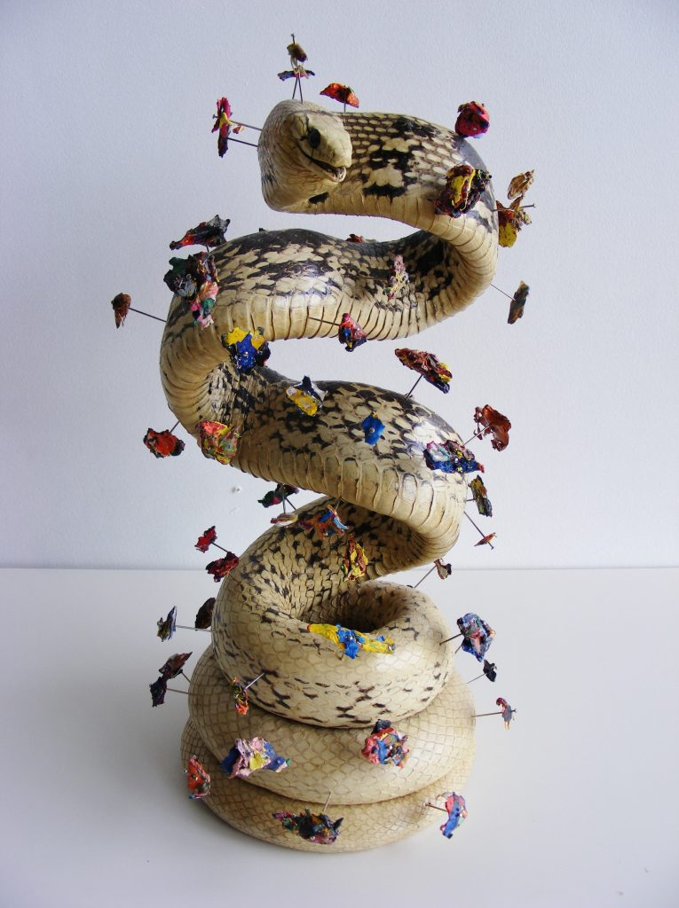 Curio (snake), 2010. Mixed media. 26x16x16cm's.