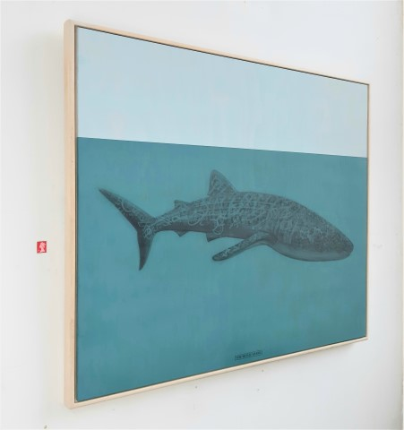 The Whale Shark, 2020. Graphite and acrylic on plywood. 70 x 85 x 4 cm.