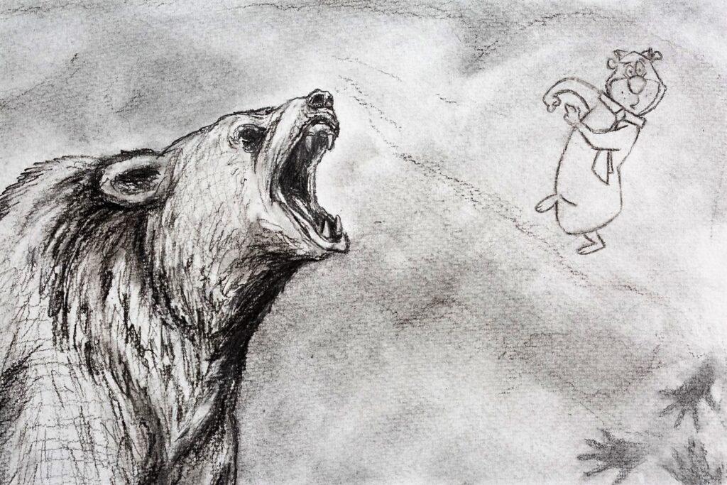 Cave bear detail